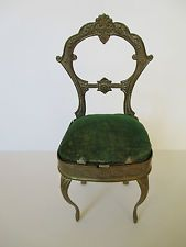 Antique Avery Needle Case ~ Pin Cushion ~ Balloon-backed Chair ~ W. Avery and Son