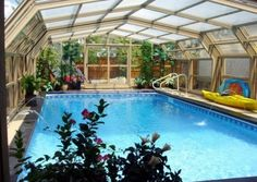 Indoor Pool In A Room With A Retractable Roof To Make It Outdoor. Part 93