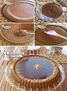 Tart Cake Recipe, How to Make? - Female Recipes -Chocolate Tart Cake Recipe, How to Make? Easy Chocolate Pie, Chocolate Brownies, Chocolate Desserts, Chocolate Cream, Easy Cheesecake Recipes, Pie Recipes, Dessert Recipes, Food Cakes, Cupcake Cakes