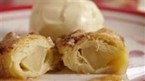 Refrigerated crescent roll dough is rolled around apple slices, drizzled with butter and sugar, then given the secret ingredient -- a can of citrus-flavored soda.