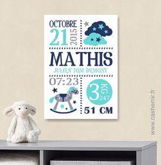 Cadeau de naissance bébé, stats de naissance, décoration chambre enfant garçon fille - Fichier Imprimable - n°27 : Décoration pour enfants par cashemir