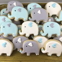 Elephant sugar cookies Two dozen adorable elephant Sugar cookies in your choice of flavor with royal icing. Cookie measures approximately inches. Makes a great party favor, baby shower favor, birthday gift or just because. Cookies are made to order, pl Baby Shower Kuchen, Gateau Baby Shower, Idee Baby Shower, Elephant Baby Shower Cake, Shower Bebe, Baby Shower Desserts, Boy Baby Shower Themes, Baby Shower Cookies, Baby Boy Shower