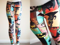 Womens BATGIRL Comic Multicolored pink blue Batman by VixenObscure, $50.00