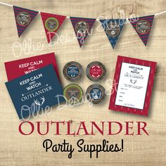 INSTANT PRINT OUTLANDER Premiere Party  Kit  by OllieDesignStudio