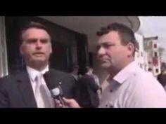 Bolsonaro com apenas 03 coices faz repórter intrometido virar seu fã..kkk - YouTube