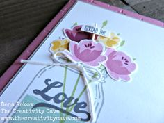 Great Video tutorial on how to make this gorgeous card using Stampin Up's Jar of…