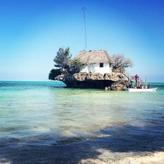 The Rock Restaurant, Zanzibar | The Rock Restaurant is an extraordinary seafood restaurant located on a rock in the middle of the Indian Ocean.It serves up to 14 tables.