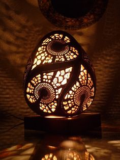 Face of love. Wonderful lamp made of gourd http://svitactikva.weebly.com/lampe-2014.html