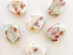 Another peak of our terrazzo inspired gem soaps. My first thought was to make these scent free (with the exception of the embeds) and just… Terrazzo, Soaps, Upcycle, Mountain, Gems, Inspired, Create, How To Make, Inspiration