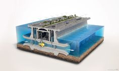 3D Technical Visualization of a Tidal Power Plant