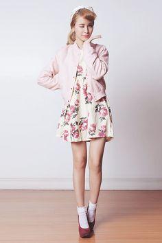 Sheinside Dress, Emilio Cavallini Socks, Murua Jacket, Sugarfree Shoes Heels