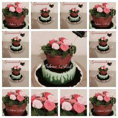 Gateau pot de fleurs