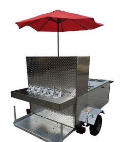 The Big One is large & spacious, allowing you to stock less & sell more. Made of stainless steel & diamond plate making it tough, durable, & eye-catching. Concession Food, Concession Trailer, Big Hot Dog, Hot Dogs, Taco Cart, Hot Dog Cart, Hot Dog Recipes, Food Stands, Grilling