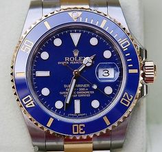 Rolex Submariner Mens Gold Steel 116613 Ceramic 2015 Blue Dial Bezel. Get the lowest price on Rolex Submariner Mens Gold Steel 116613 Ceramic 2015 Blue Dial Bezel and other fabulous designer clothing and accessories! Shop Tradesy now