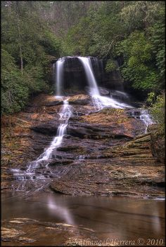 Waterfall on Scotsman Creek, North Carolina http://www.vacationrentalpeople.com/vacation-rentals.aspx/World/USA/North-Carolina