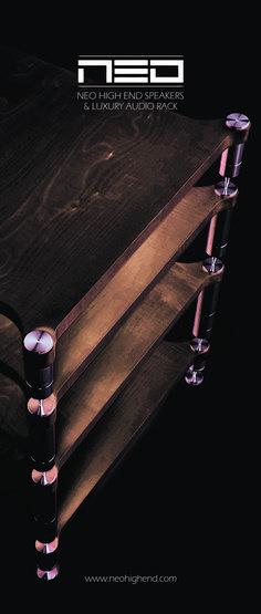 Luxury audio rack NEO #neohighend #alpha #tripod #doubletripod #quattron #highendspeakers #luxuryaudiorack #accuton
