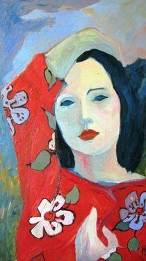 Oriental Self Portrait  Painting  by Andreea- Mara Mancas