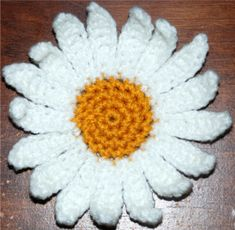 Crochet Daisy Flower My Crochet You Tube Channel: https://www.youtube.com/user/amray767 ...