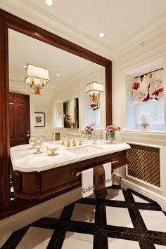 DAVID GIRAL BIG MIRROR bathroom vanity traditional-bathroom