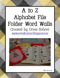 A to Z File Folder Word Walls