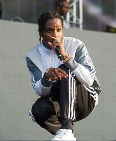 A$ap Rocky en adidas au Newlook Wireless Festival