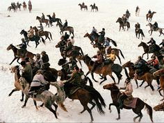 The Kyrgyz people, who live at the end of the remote and inhospitable Wakhan corridor in Afghanistan, play a game of buzkashi, which is akin to polo but uses a headless goat carcass instead of a ball.