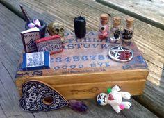 Miniature Black Magic Ouiji Board Kit! One of a Kind.