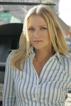 A. J. Cook -- Stupendous in stripes . . .