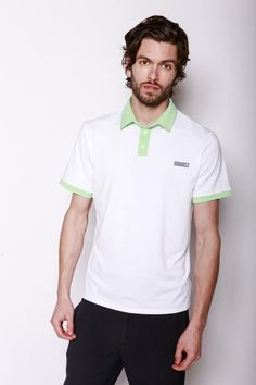 Degraw Polo | Cut from the highest performing performance fabric, the Degraw is a classic and crisp polo that will elevate your everyday game. With Mint 3 button placket front closure, contrast tipped sleeves and collar detail, it hints that you're a step ahead and won't sacrifice performance or style.