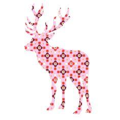 Leuk voor de kinderkamer, dit mooie grote hert, gemaakt van behang. In diverse kleuren leverbaar.