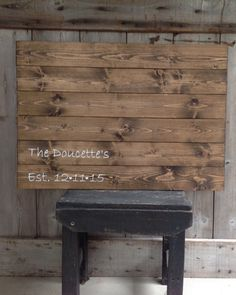 Guest Book Sign, distressed, Established Sign, The_________'s with date, Sign, Rustic Sign, Rustic Decor, Rustic Wedding, Sign with Initial by SimplymadesignsbyB on Etsy