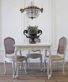 Vintage Petite Louis XV Style Dining Table from Full Bloom Cottage