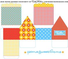 paper houses #templates  #crafts #paper #diy