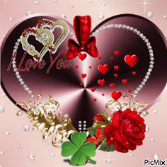 I Love U Gif, Love Heart Gif, I Love You Images, My Love, Good Night I Love You, Good Night Gif, Animated Heart, Animated Love Images, Beautiful Heart Images