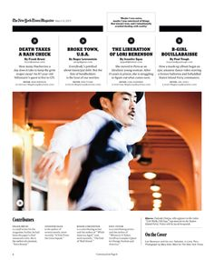 The New York Times Magazine   Table of Contents   Designed by Studio 8 (2 of 8)