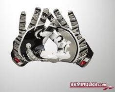 FSU Football Gloves with Seminole Head. Awesome!