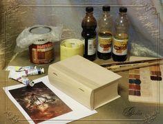 Создаем эффект «свечения» в декупаже на деревянных заготовках - Ярмарка Мастеров - ручная работа, handmade