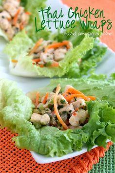 Thai Chicken Lettuce Wraps on MyRecipeMagic.com #healthy #recipe #chicken