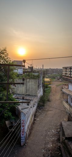 Early morning in Bhopal, India.