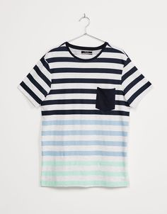 Printed striped top - T-shirts - Bershka United Kingdom