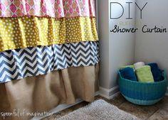 Sew Cute: DIY Ruffled Shower Curtain