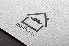 Man House Logo Design by Nadezda Gudeleva on @creativemarket