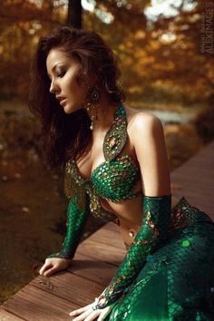 Mermaid and dragon belly dance costume -Aleximages