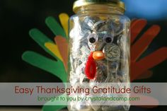Thanksgiving Crafts for Kids Gratitude Gifts