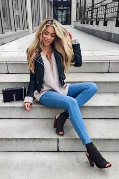 "ecstasymodels: ""Casual Fall DayHeels by Simmi Shoes Fashion Look by Janine Wiggert """