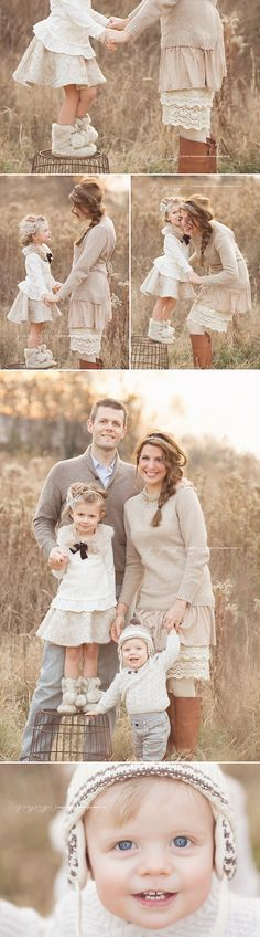 Beautiful family session by Jennie Cruger Photography! Love the family& outfits! Family Photo Outfits, Picture Outfits, Family Photo Sessions, Family Posing, Baby Outfits, Family Portraits What To Wear, Lifestyle Fotografie, Fall Family Photos, Family Pics