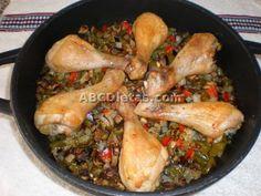 Muslos de pollo horneado con verduras super fácil