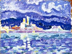 "terminusantequem: "" Paul Signac (French, 1847-1935), The Storm, Antibes, 1918-19 """