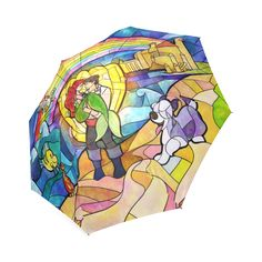 Mermaid on Land Foldable Umbrella