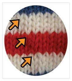 TECHknitting: Jogless stripes--pretty picture version (part 3 of a series)